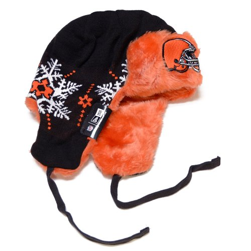 NFL-Cleveland-Browns-Snowflake-Trapper-Winter-Hat-0